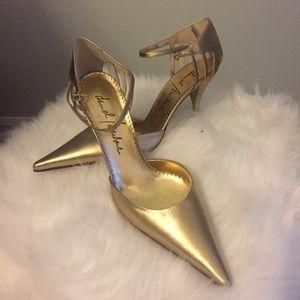 Daniel/Barbara Italian Gold Leather Women's Heels